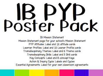 IB PYP Poster Pack