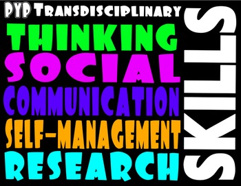 IB PYP Printables 3 for 1: Transdisciplinary Themes, Skills, Attitudes