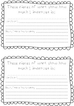 IB PYP Reflection Sheets for Individual Work- Portfolios (incl. Learner Profile)