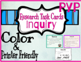 IB PYP Research ATL Task Cards Color and Print Friendly