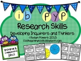 IB PYP Research Skills Task Cards