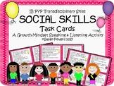 IB PYP Social Skills Task Cards for Growth Mindset