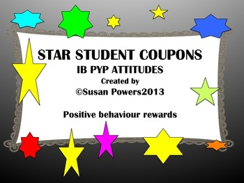 IB PYP Star Student Positive Behavior Reward System