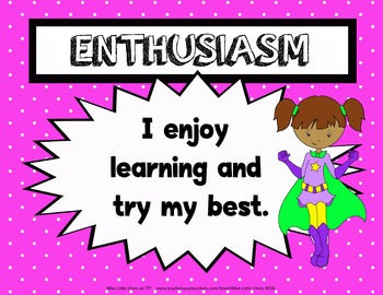 IB / PYP Super Hero Attitudes ~ Bulletin Board Posters ~ Student Booklet