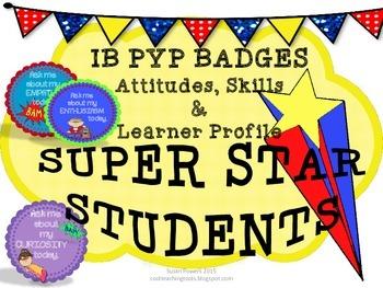 IB PYP Super Star Award Badges of Honor