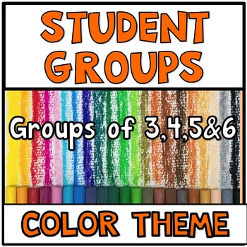 Pick a Partner Student Grouping Colors