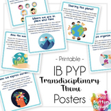 IB PYP Transdisciplinary Theme Posters