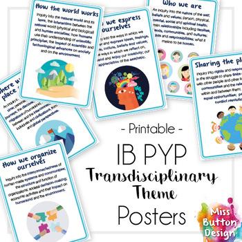 IB PYP Transdisciplinary Theme Posters