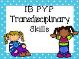 IB PYP Transdisciplinary Skills - BLUE POLKA DOT