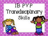 IB PYP Transdisciplinary Skills - PURPLE POLKA DOT