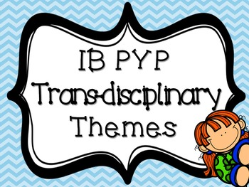 IB PYP Transdisciplinary Theme BLUE CHEVRON
