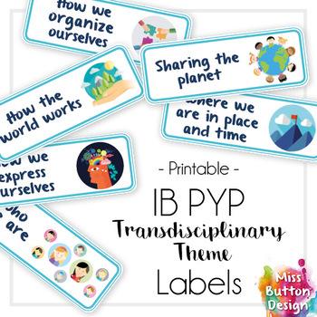 IB PYP Transdisciplinary Theme Rectangle Labels