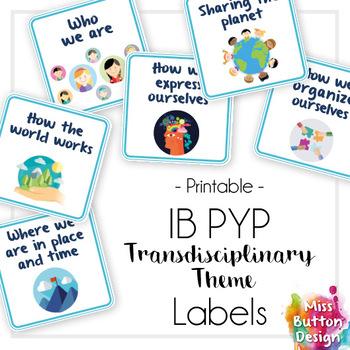 IB PYP Transdisciplinary Theme Square Labels