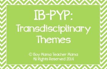 IB PYP Transdisciplinary Themes (Chevron) Posters