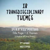 IB PYP Transdisciplinary Themes + Descriptors Posters / Prints