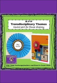 IB PYP Transdisciplinary Themes Display Flower Centres