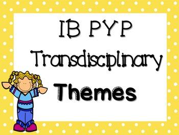 IB PYP Transdisciplinary Themes - MULTICOLOUR POLKA DOT