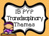 IB PYP Transdisciplinary Themes ORANGE CHEVRON