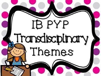 IB PYP Transdisciplinary Themes - PINK GREY AND PURPLE POLKA DOT