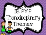 IB PYP Transdisciplinary Themes - PURPLE CHEVRON