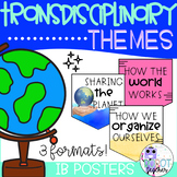 IB PYP Transdisciplinary  Themes Posters (Watercolor)