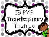 IB PYP Transdisciplinary Themes - PURPLE AND GREY POLKA DOT