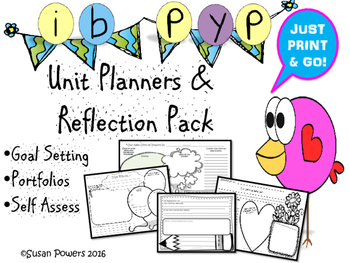 IB PYP Portfolio, Goal Setting and Reflection Pack