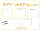IB PYP Wall Display Boards