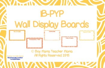 IB PYP Wall Display Boards (Doodles)