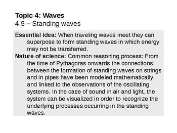 IB Physics Topic 4.5 - Standing waves