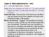 IB Physics Topic 9.1 - Simple harmonic motion - AHL