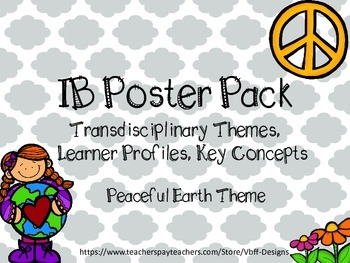 IB Posters (Themes, Concepts, Profiles) Peaceful Earth Theme Chevron/Quatrefoil