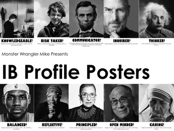 IB Profile Posters with Famous Faces