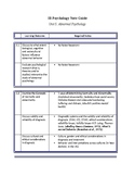 IB Psychology Abnormal Psychology Chapter Guide