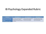 IB Psychology Expanded and Color-coded Rubric