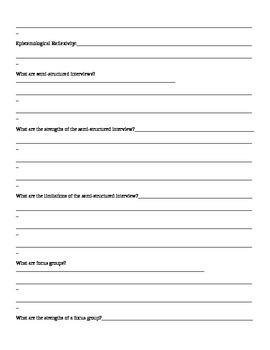 IB Psychology Qualitative Research  Packet  Crane/Hannibal Course Companion