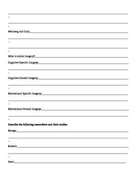 IB Psychology Sports Psychology Packet  Crane/Hannibal Course Companion