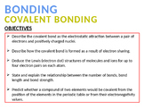 CHEMISTRY NOTES ON COVALENT BONDING
