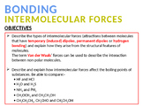 CHEMISTRY NOTES ON INTERMOLECULAR FORCES