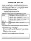 IB Spanish 2 MYP Design Your Ideal School Project