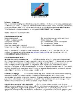 IB Spanish, AP Spanish, Spanish 4 Endangered Species Pamph