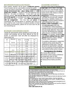 "IB Spanish IV and V HL / SL class syllabus - Año ""A"""