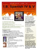 "IB Spanish IV and V HL / SL class syllabus - Año ""A"""