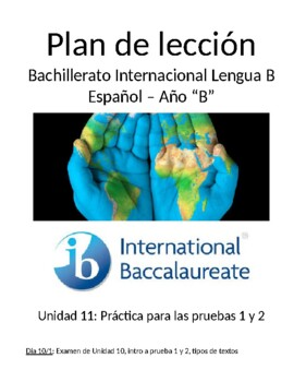 """IB Spanish Paper 1 and Paper 2 practice for IB exam (Año """"B"""")"""
