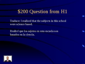 IB Spanish or Spanish 3 or 4 Common Errors Jeopardy Review for Paper 2