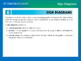 IB Standard Level Math - Sign Diagrams