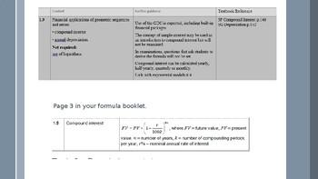 IB Studies Compound Interest and Finance Solver.