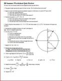 IB Topics Quiz Review (Editable)