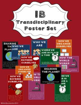 IB Transdisciplinary Themes and Indicators Poster Set