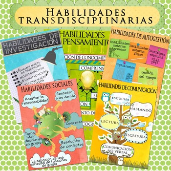 IB Transdisciplinary Skill Posters in Spanish for A4 Paper